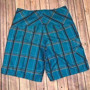 Hurley Swim - Hurley Mens blue swim board shorts Sz 32